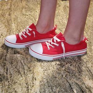 Pierre Dumas red sneakers size 9